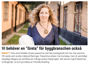 Ingrid Westman debattartikel Aktuell Hållbarhet