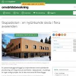 Nominering till Årets bygge ger publicering för Skapaskolan