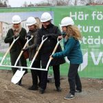 Första spadtaget för vårt passivhus Villa Ängby